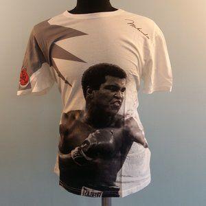 Dolce Gabbana Muhammed Ali Print White T-Shirt